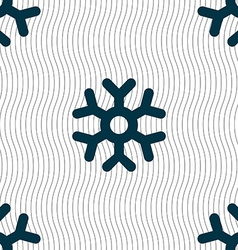 Snowflake icon sign seamless pattern with vector