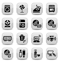 Electronic home devices icons vector