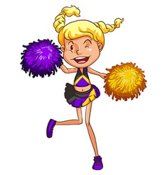 A cheerleader vector