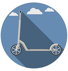 Flat icon for kick scooter vector