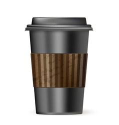 Coffee cup to go black vector