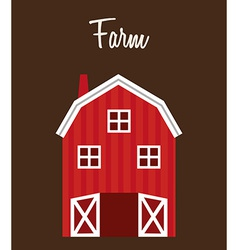 Farm stable vector