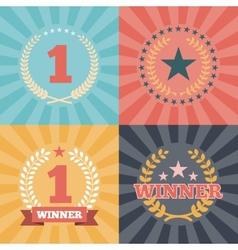 Laurel wreaths awards vector
