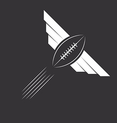 Ball with wings of american football or rugby vector