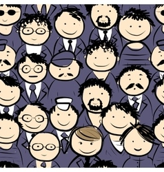 Men crowd seamless pattern for your design vector