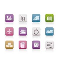 Logistics and transportation icons vector