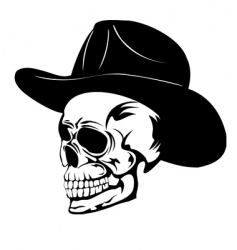 Skull in hat min vector