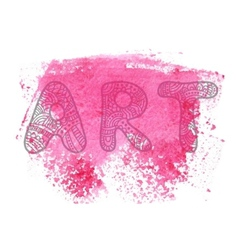 Abstract art print design vector
