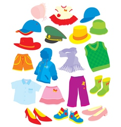 Footwear and clothes vector
