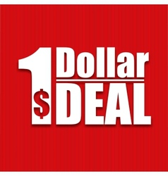 Dollar deal poster on a red background vector