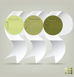 Infographic plan ribbon vector
