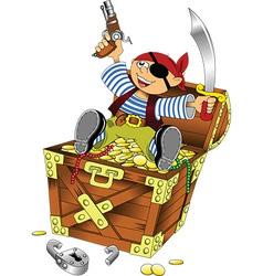 Cartoon pirate design vector