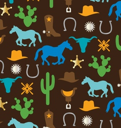 Cowboy pattern vector