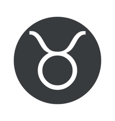 Monochrome round taurus icon vector