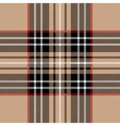 Classic beige tartan fabric vector