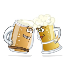 Cartoon hero beer tankard vector