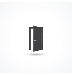 Door icon vector