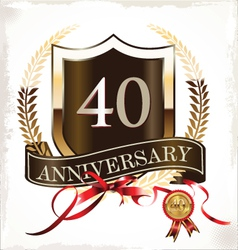 Anniversary design vector