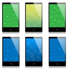 Set of touchscreen smartphones vector