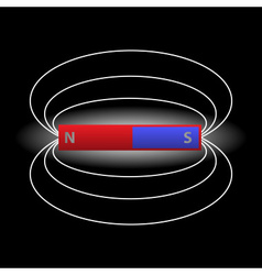 Magnet and magnetic field eps10 vector