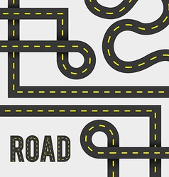 Road design vector