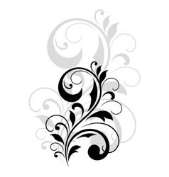 Pretty swirling foliate design element vector