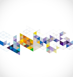 Abstract colorful modern geometric template vector