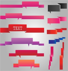 Web banner ribbons set vector