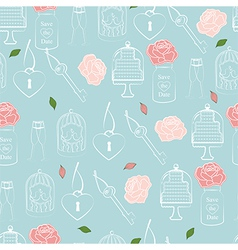 Wedding and valentines seamless pattern vector