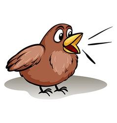 Talking like a little bird idiom vector