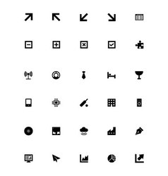 Mini icons 6 vector