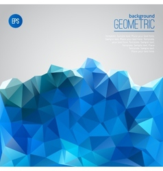 Blue mountain of triangles geometric template vector