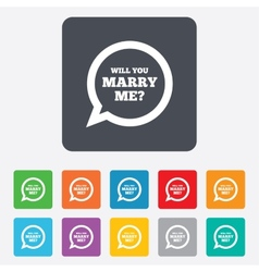 Marry me speech bubble sign icon engagement symbol vector