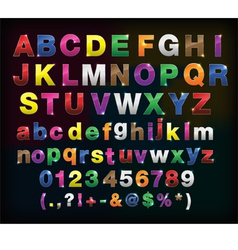 Creative alphabet metal border set for your design vector
