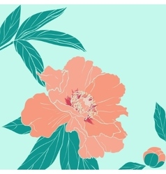 Hand drawn of ornate flower vector