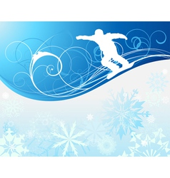 Snowboard background vector