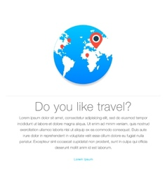 Travel icon map of the earth vector