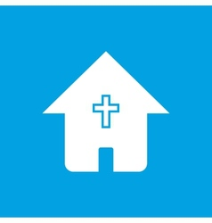 Protestant church white icon vector