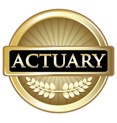 Actuary gold label vector