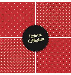 Red classical polka dot patterns collection vector