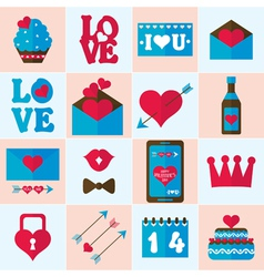 Valentine flat icon vector