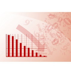 Red graph vector