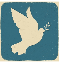 Dove of peace retro vector