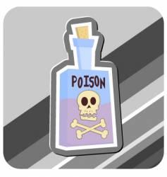 Bottle of poison vector