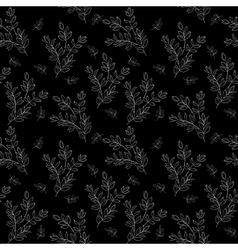 Seamless background branches silhouettes vector