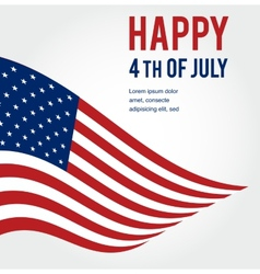 American flag background for independence day vector