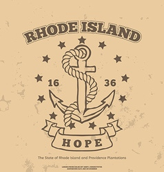 Anchor with rope and hope design elements t-shirt vector
