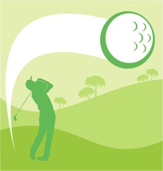 Golfer graphic vector