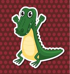 A toy crocodile vector