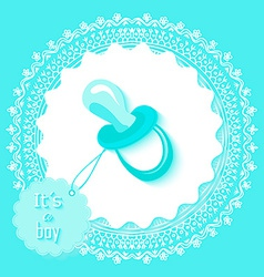 Baby shower boy invitation card design vector